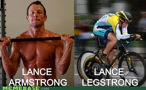 bike cancer Lance Armstrong legs Memes puns - 6225830656