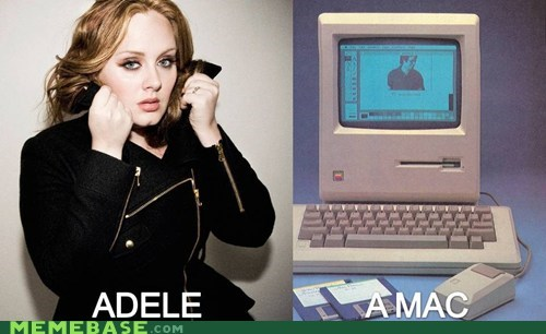 adele,Dell,e-machine,mac,Memes,PC,rage against the machine