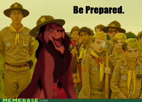 be prepared boy scouts disney lion king scar