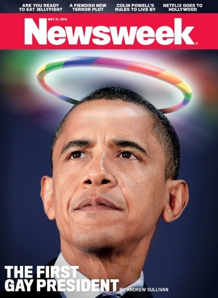 magazine cover Newsweek obama gay marriage - 6226058496
