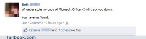 Microsoft Office Office pun word