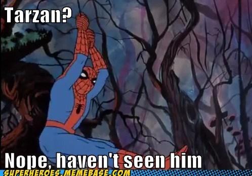 jungle,Spider-Man,Super-Lols,tarzan