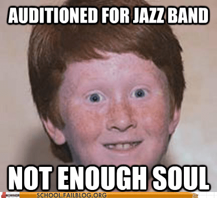gingers,Hall of Fame,jazz band,no soul,not enough soul,redheads