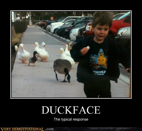duck face,response,Terrifying