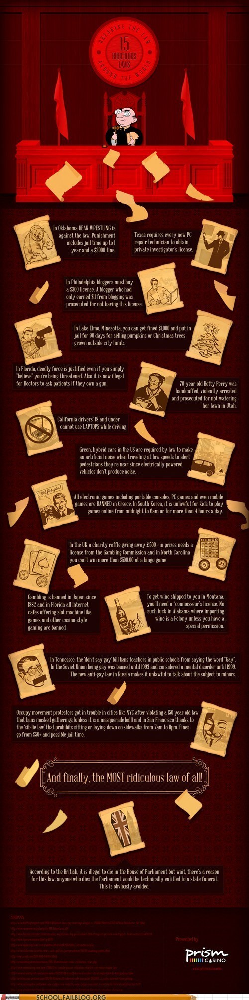 class is in session infographic obscure justice 101 - 6226372096