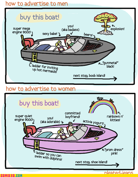 advertisement,boat,men vs women,the internets