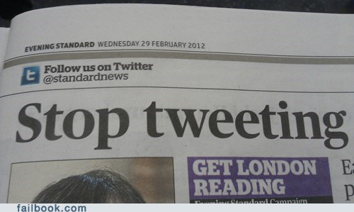 headline newspaper tweet tweeting twitter - 6226412544