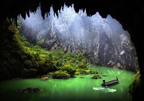 boat cave China fisherman Hall of Fame lake - 6226509312