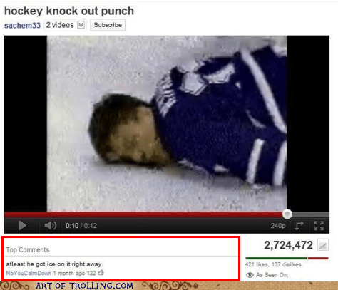 hockey ice punch sports youtube - 6226652160