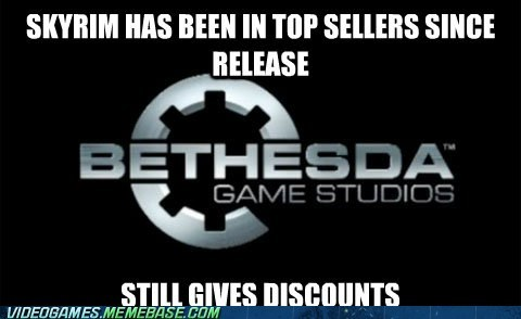 bethesda discounts meme Skyrim steam