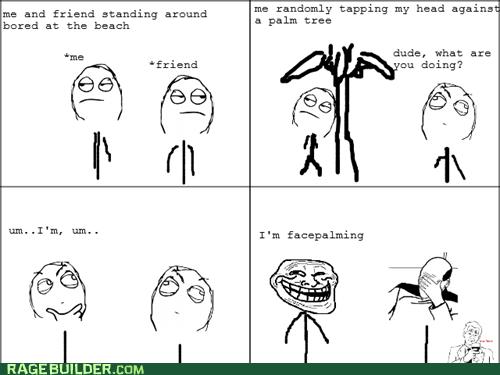 facepalming