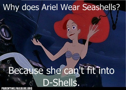 ariel,d-shells,seashells,The Little Mermaid