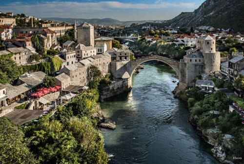 architecture,Bosnia,bridge,river