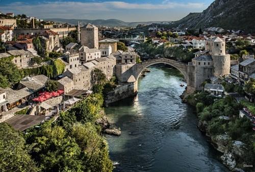 architecture Bosnia bridge river - 6226737152