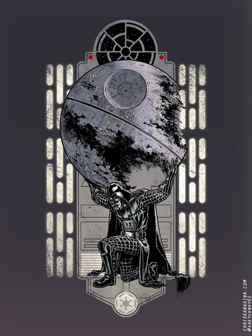 Atlas Shrugged,darth vader,Fan Art,scifi,star wars