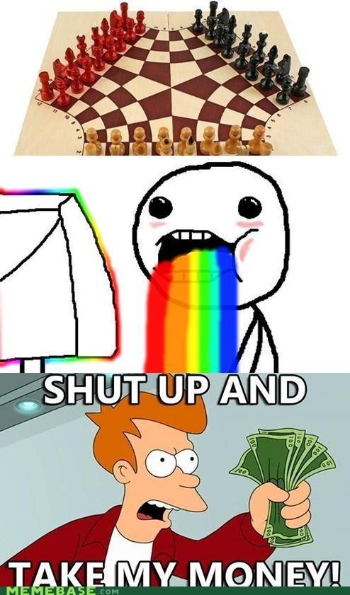 chess fry intellect nerds rainbow take my money - 6226785024