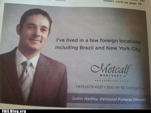 advertisement,brazil,metcalf mortuary,new york city