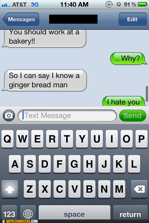gingerbread man,i hate you,iPhones,racism