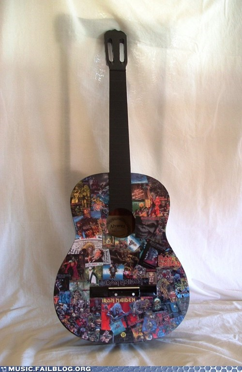 acoustic guitar iron maiden metal - 6226887936