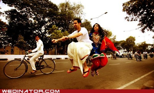 bikes,bride,funny wedding photos,groom,india