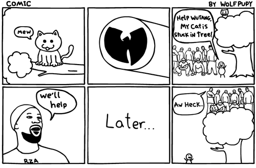 cat Cats comic wu tang Wu-Tang Clan - 6226909184