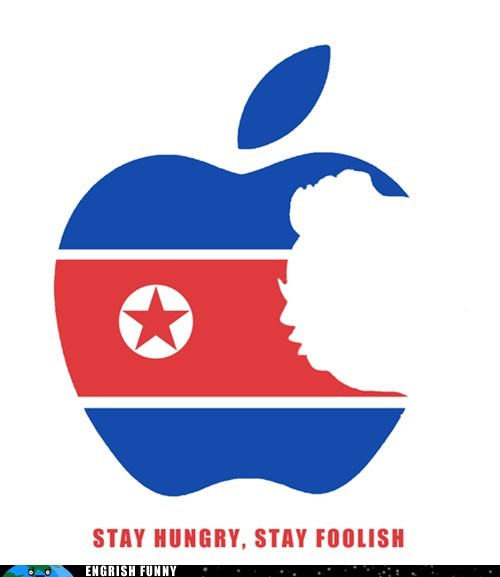 apple ceo dear leader dprk great leader kim il-sung kim jong-un Kim Jong-Il mac macbook North Korea stanford commencement speech stay hungry stay foolish steve jobs wisdom