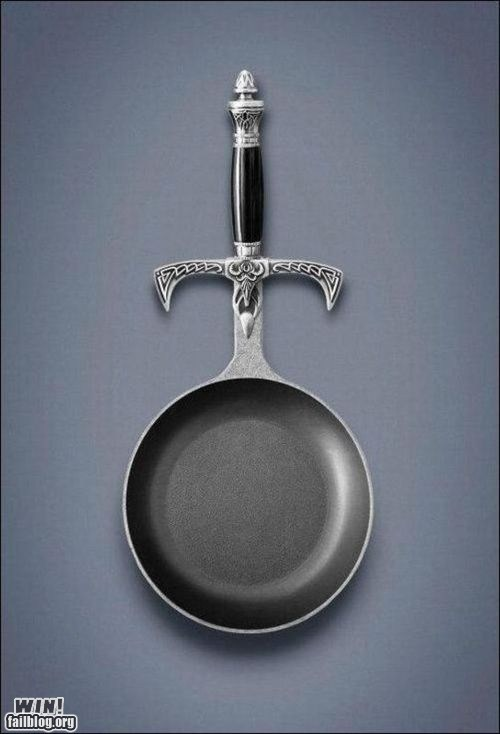 design Hall of Fame kitchen nredgasm pan skillet sword - 6227176448