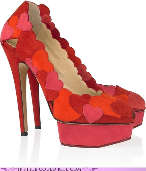 charlotte olympia crazy shoes hearts heels - 6227202560