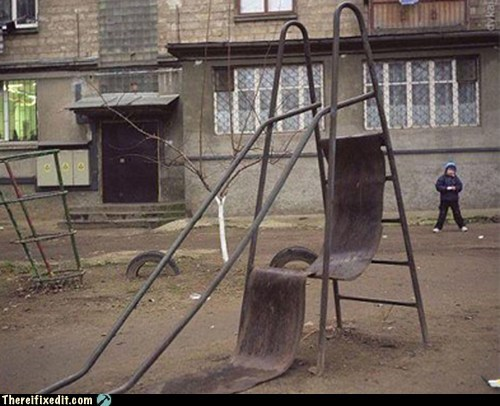 broken,park,slide