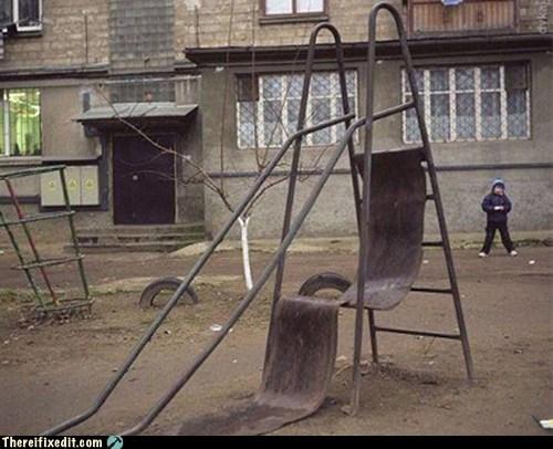 broken park slide - 6227312128