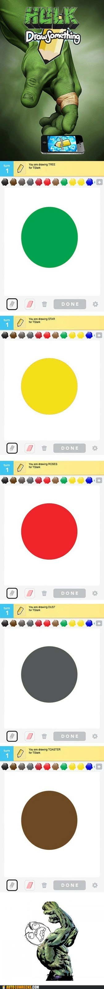 AutocoWrecks draw something fat fingers g rated iPhones the hulk
