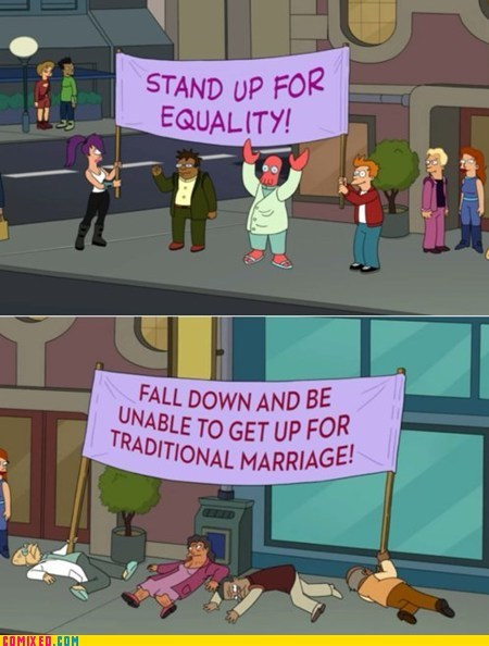 cant tell if cartoons equality futurama gay marriage the internets TV