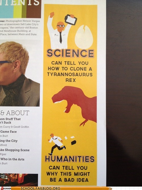 dinosaurs,g rated,humanities,jurassic park,School of FAIL,science