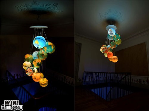 design globe lamp solar system - 6227502592