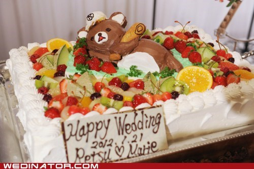 bears,cakes,funny wedding photos,Japan,Memes,pedobear,wedding cakes