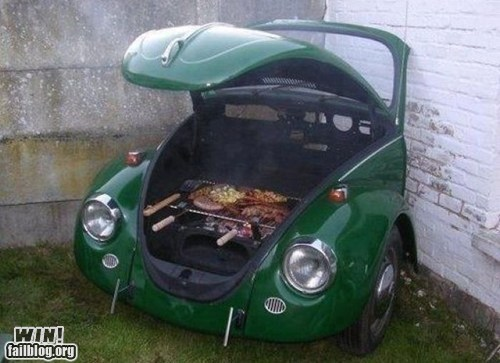 barbecue car DIY grill modification summer - 6227924480