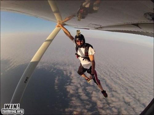 plane skydiving stunt whee