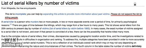 clever,edit,serial killer,warning,wikipedia
