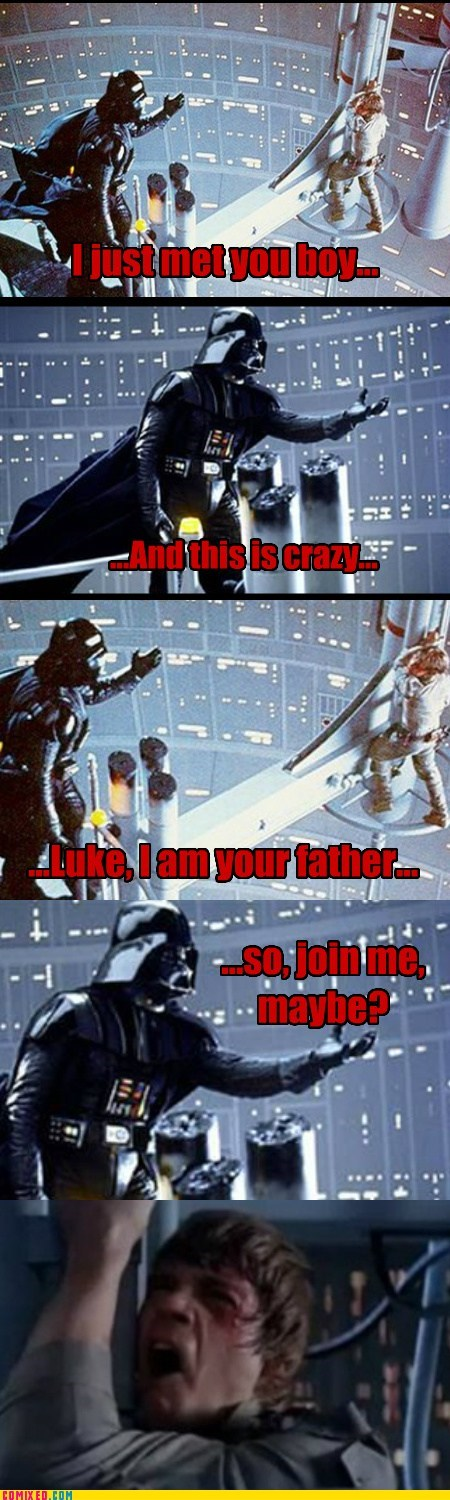 call me maybe,darth vader,From the Movies,Luke,star wars