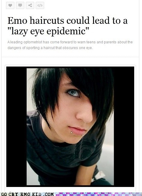 emo hair emolulz lazy eye psa - 6228237824