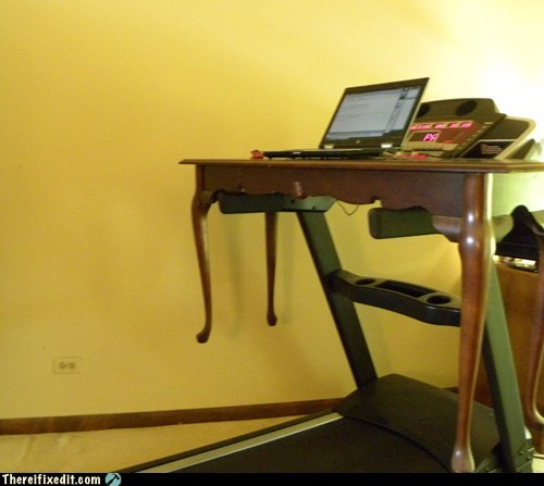 desk homework laptop treadmill Xzibit yo dawg yo