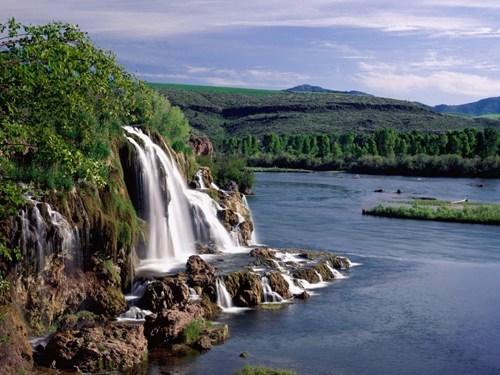 canyon Idaho river waterfall - 6228580608