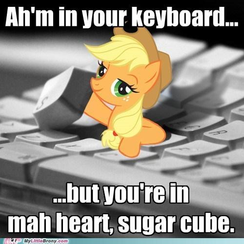 applejack keyboard meme sugar cube - 6228720640