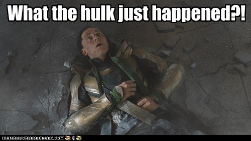 avengers,beat down,best of the week,confused,hulk,loki,tom hiddleston,what happened