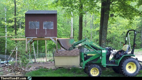 bulldozer henhouse John Deere redneck tractor - 6229192704