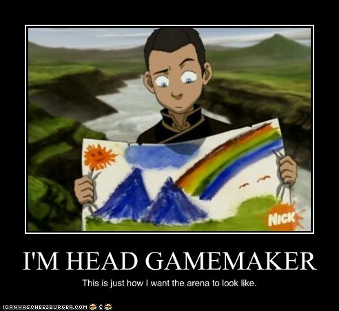 arena Avatar: The Last Avatar the Last Airbender drawing gamemaker map plan sokka hunger games