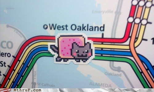 bart,embarcadero,fishermans-wharf,g rated,monday thru friday,nyan bart,Nyan Cat,oakland,palo alto,san francisco,stanford