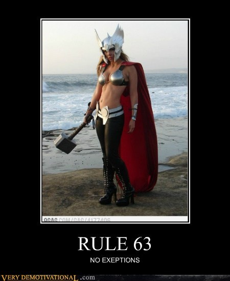 Pure Awesome rule 63 Sexy Ladies Thor - 6229894912