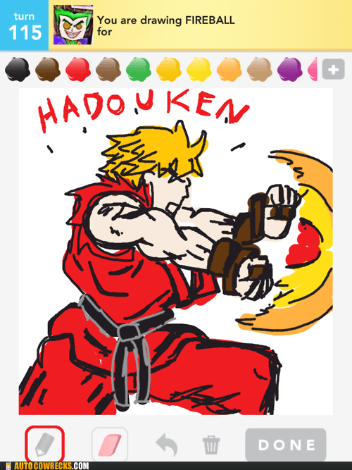 dragonball z,draw something,fireball,hadouken