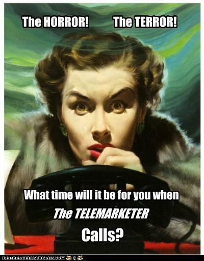 horror phone telemarketer terror